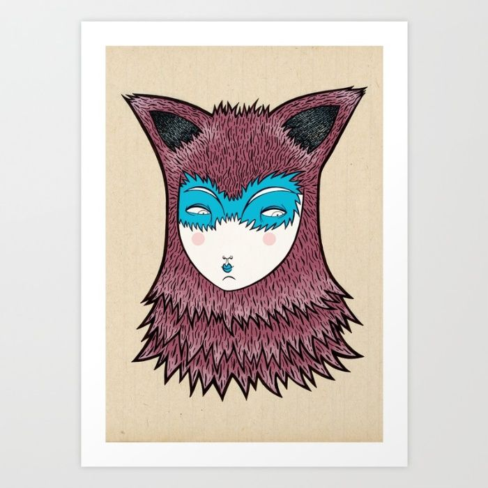 The Fox Art Print by Elena Mir | Society6