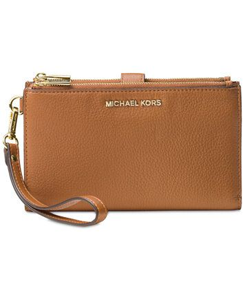 6f6a2ce18c48 MICHAEL Michael Kors Adele Double-Zip iPhone 7 Plus Wristlet | macys.com