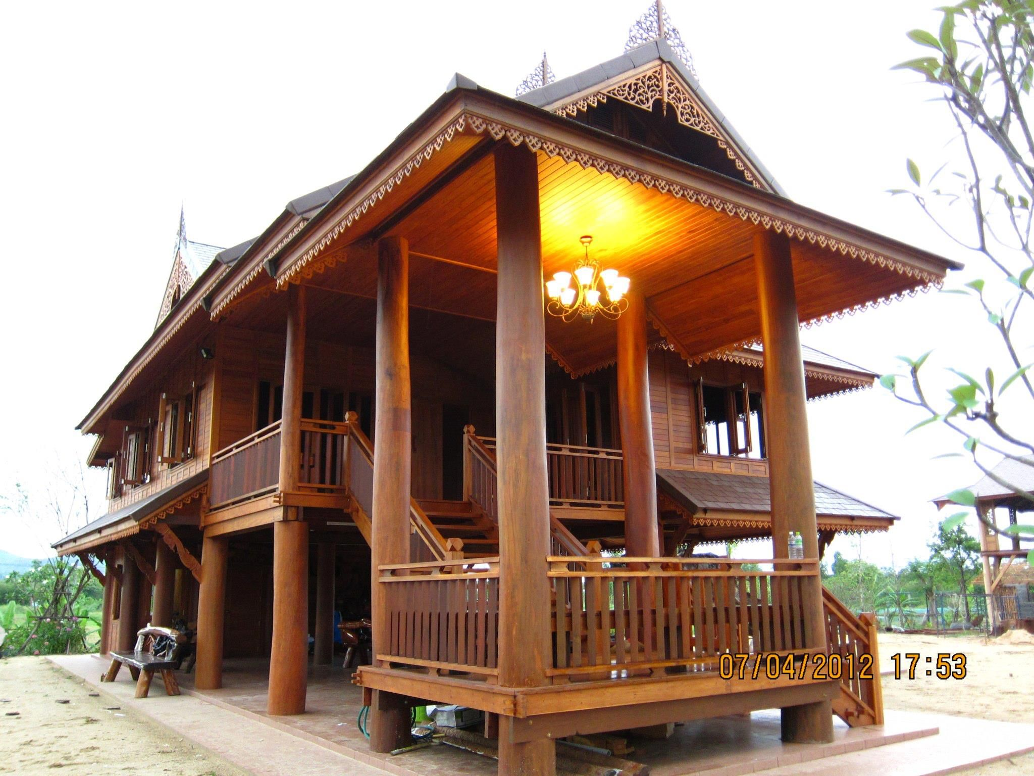 Traditional House Architecture traditional thai house - my sister & brother-in-law house in