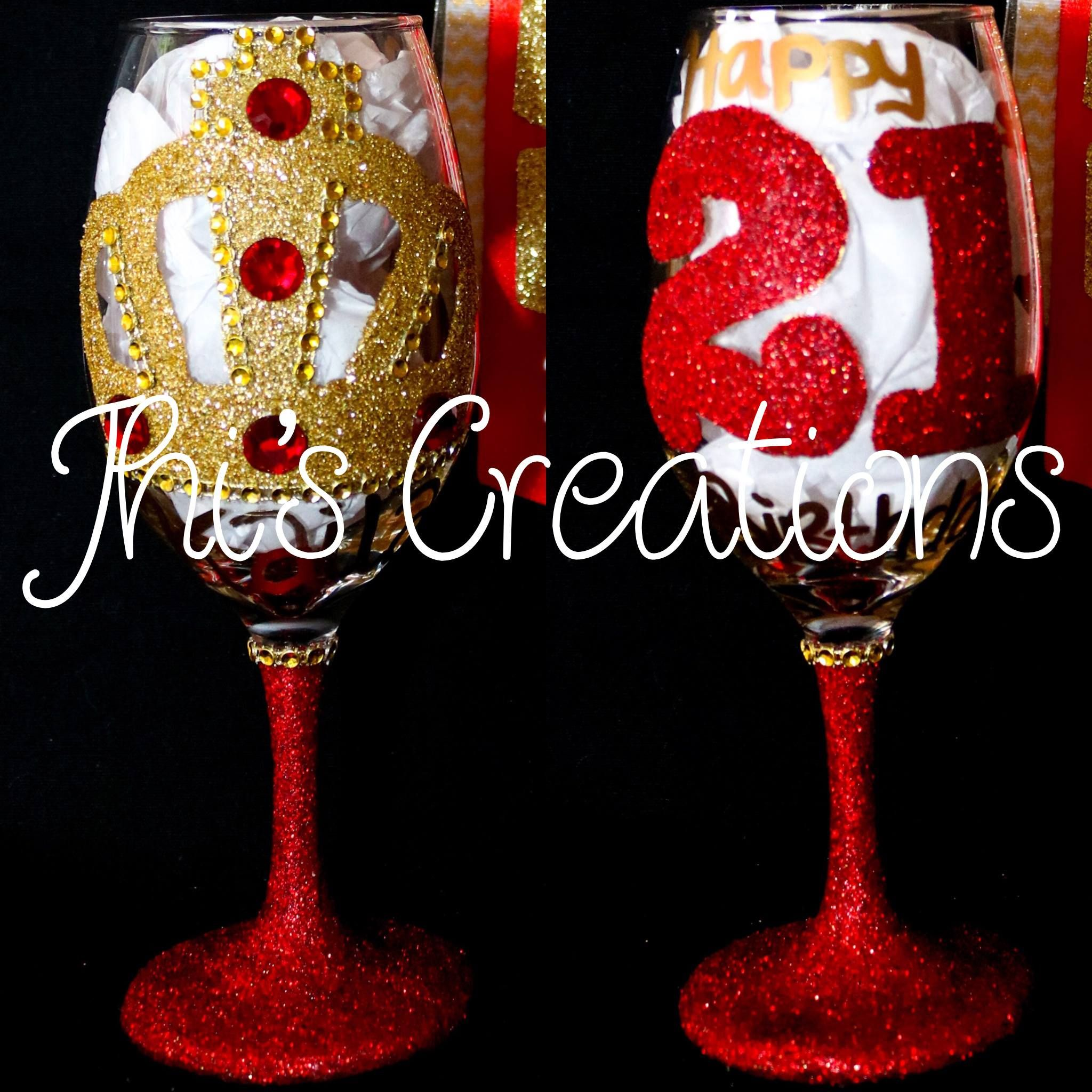 Welcome To Jhi S Creations Party Decorations Nola Home Diy 21st Birthday Decorations Birthday Wine Glass 21st Birthday Decorations