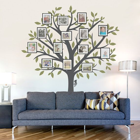 Merveilleux Large Family Tree Wall Decal   Tree Wall Sticker, Nature Wall Decal, Living  Room Art, Family Photo Art, Family Tree Art