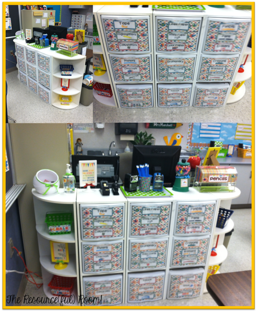 Classroom Desk Organization Ideas Pinterest: Also Love How She Set Up The Classroom Supplies Right In