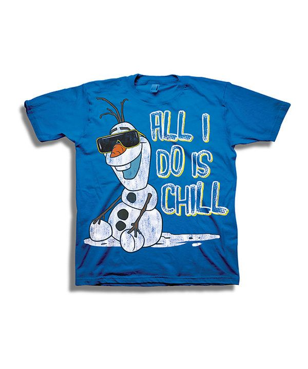 c26f63ff Look at this Royal Blue Olaf 'Chill' Tee - Boys on #zulily today ...