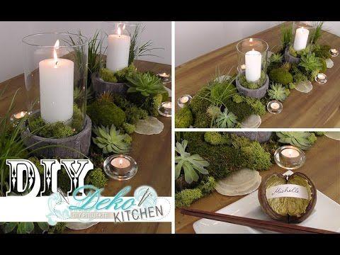 Diy: Coole Tischdeko Im Naturlook Selber Machen | Deko Kitchen ... Deko Selbst Gemacht