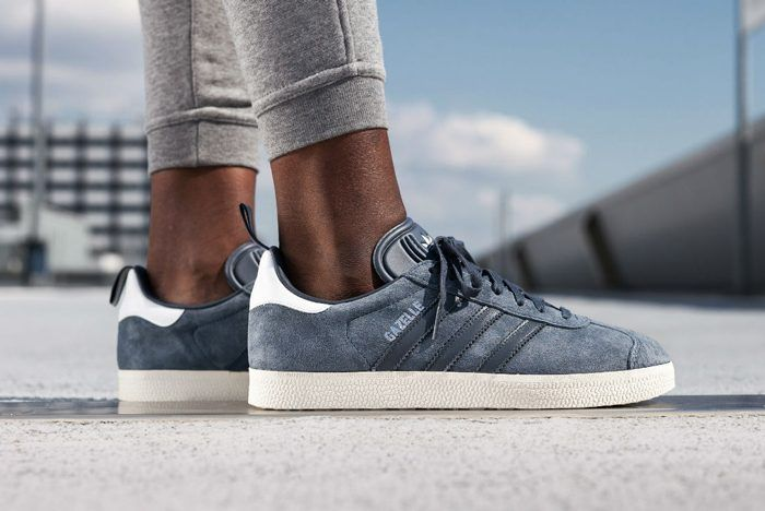 adidas Gazelle (Utility Blue) | Adidas gazelle, Sneakers, Metallic ...