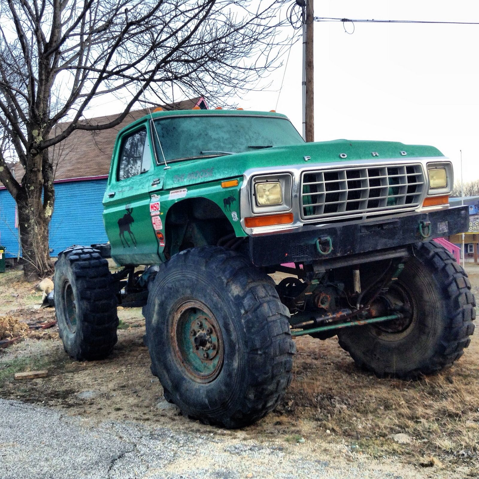 70 s ford on 2 5 ton rockwell axles mudding truckslifted