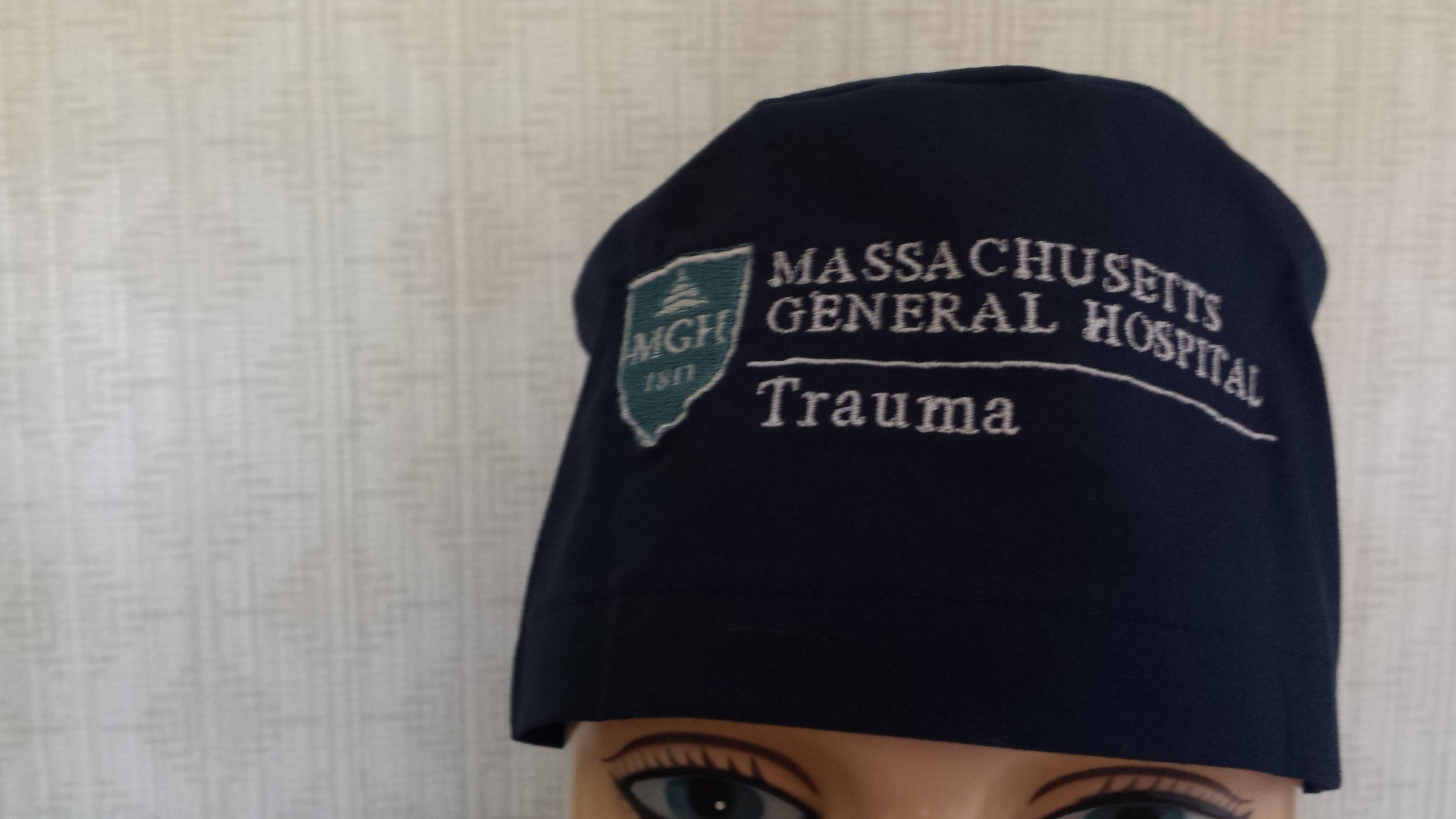 University of Delaware on a solid black surgical cap.   Custom Comfycaps    Pinterest   Delaware