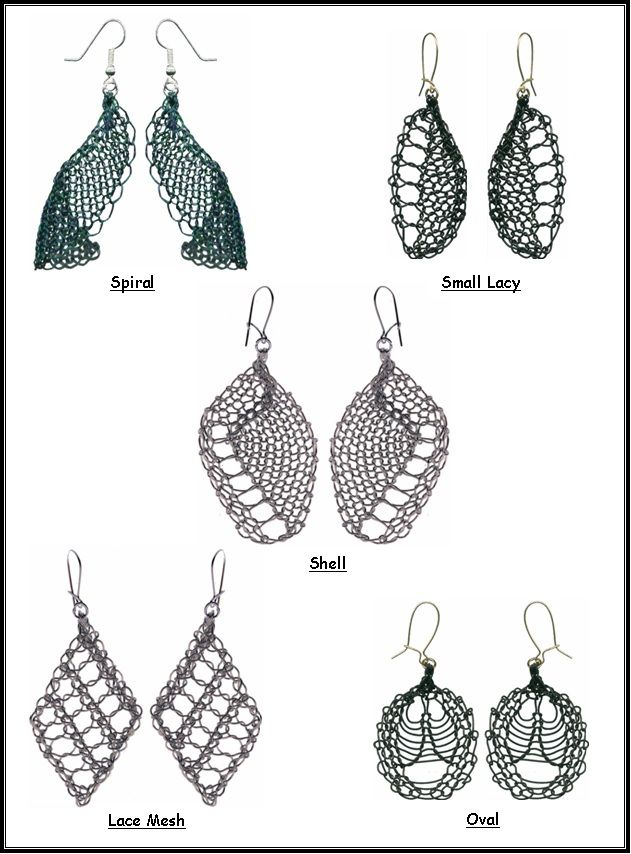 Machine Knitted Wire Earrings - Pattern Cover Instructions to make 5 ...