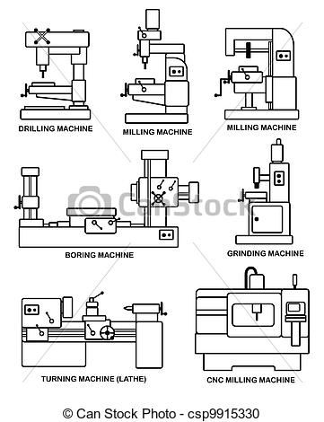 Stock Illustration Of Machine Tools An Illustration Of Set Of Machine Tools Csp9915330 Search Clipa Machine Tools Clip Art Mechanical Engineering Projects