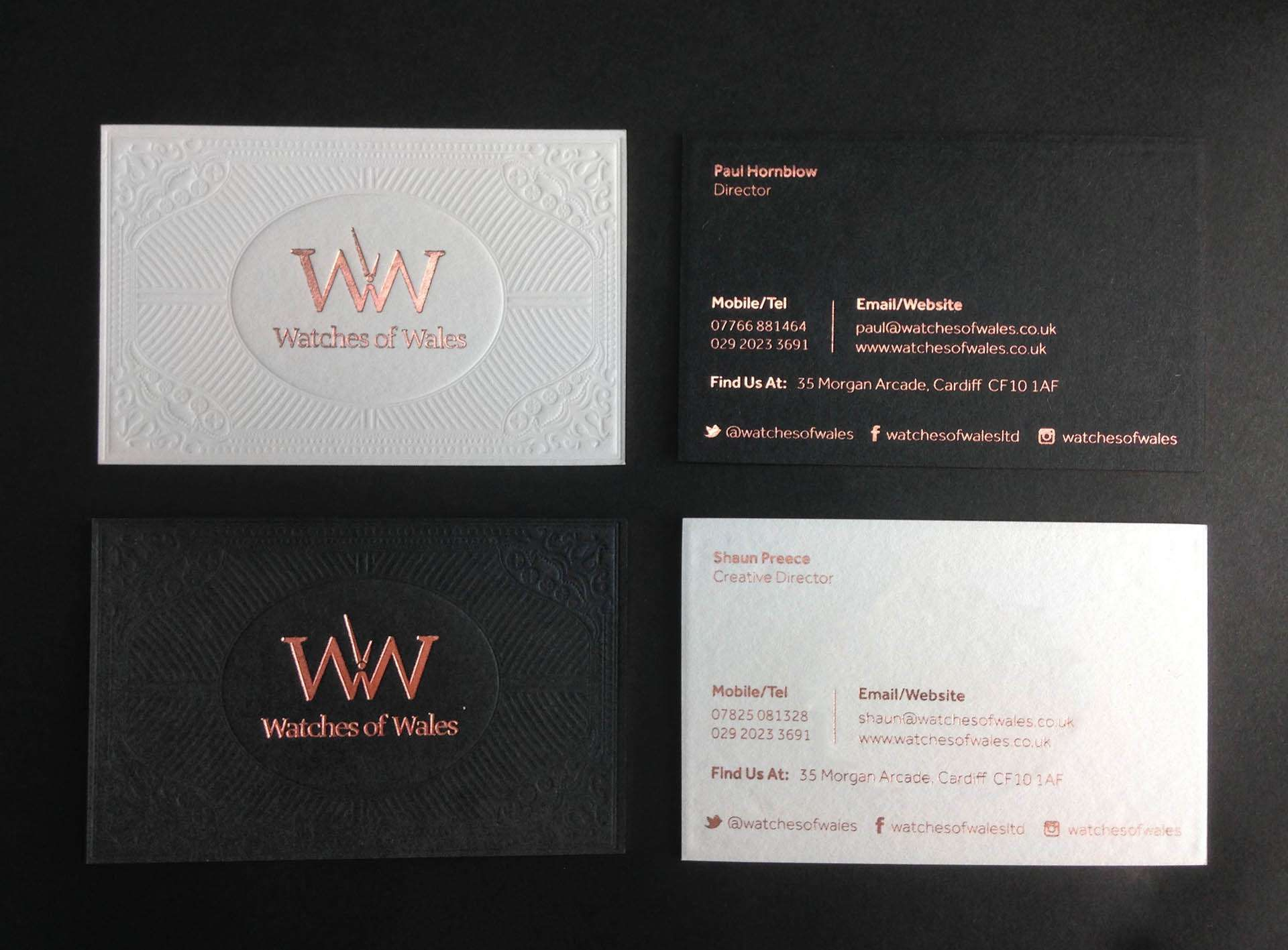 Blind debossed business cards print inspiration pinterest blind debossed business cards reheart Choice Image