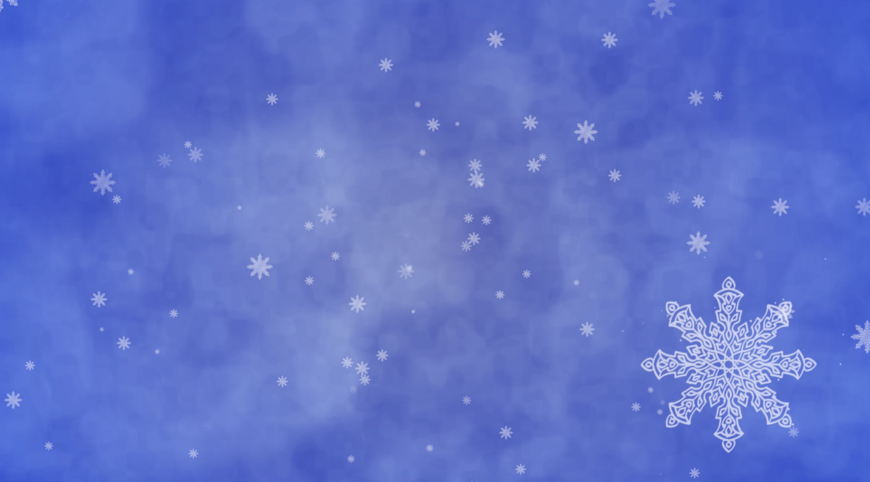 Snow Crystals Falling With A Cloudy Background Royalty Free Video