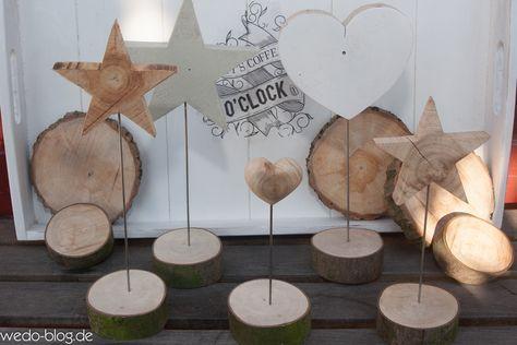 Mit unseren Deko-Ständern haben wir etwas für alle, die gern ein wenig mit Holz kreativ sind. Wir brauchen nur ein paar Baumscheiben oder Bretter. #holzideenweihnachten
