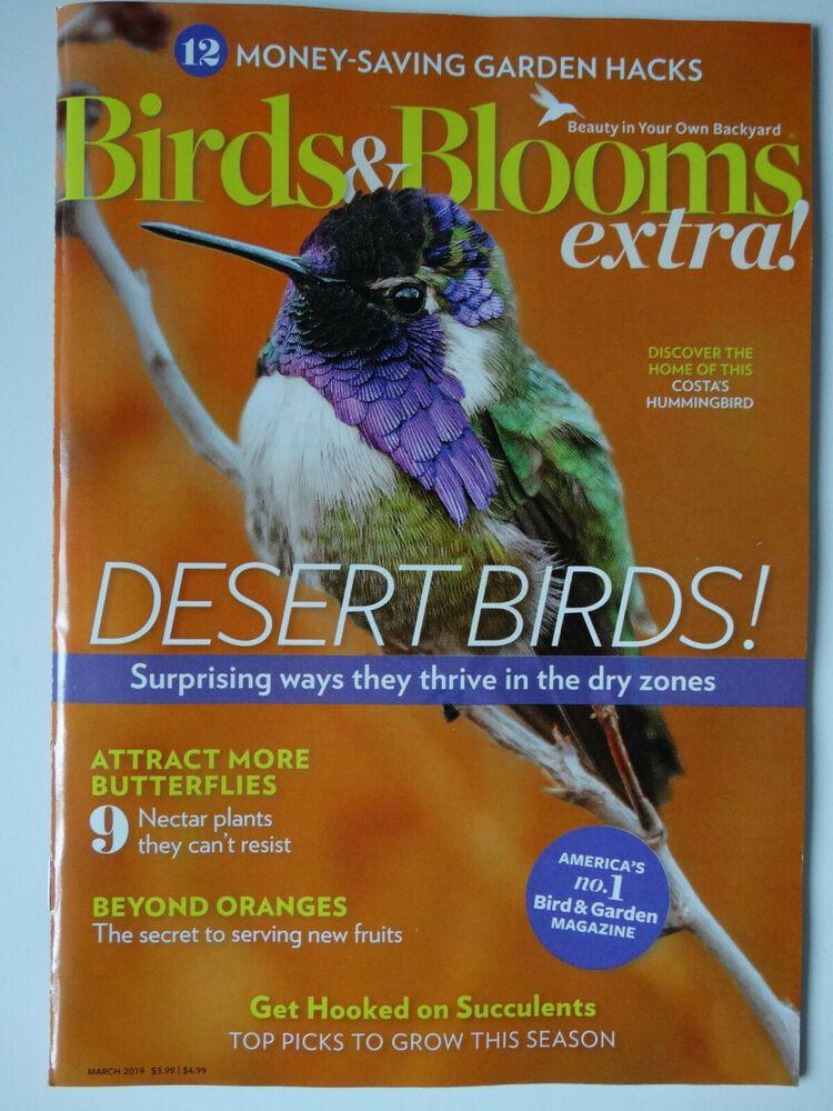 Birds And Blooms Extra Desert Birds March 2019 Magazine Birds