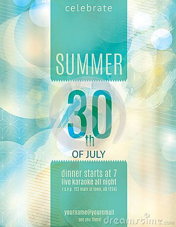 Elegant Summer Party Invitation Flyer Template - Image 40674801 - invitation flyer template