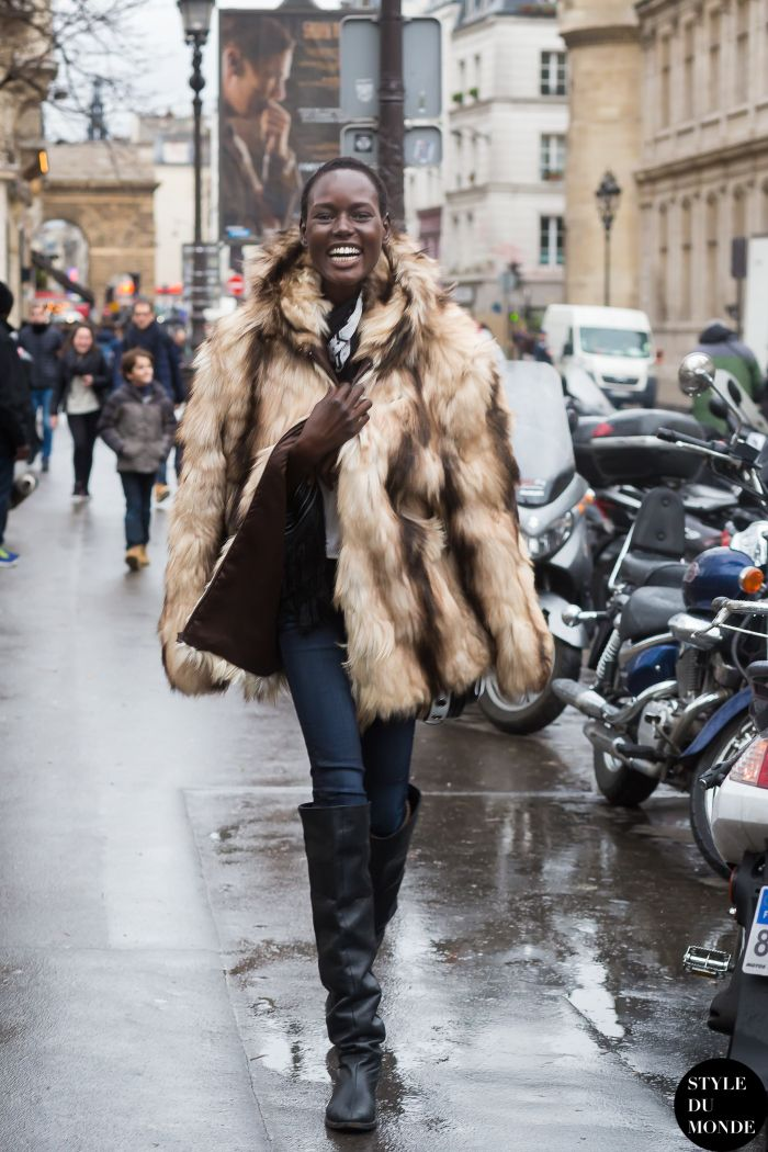 #AjakDeng looking fully brilliant #offduty in Paris.