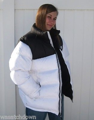 0be5e4c784 NWT Rare North Face Nuptse Down Jacket 700 XXL Over-stuffed Overfilled  White 2XL