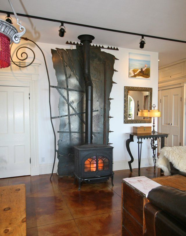 Interesting Heat Shield Wood Stove Heat Shield Wood House