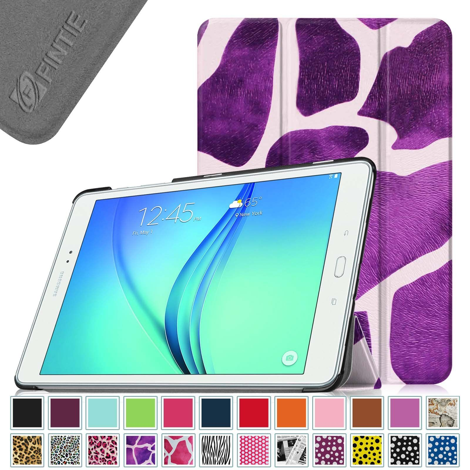 Fintie Samsung Galaxy Tab A 9.7 Smart Shell Case - Ultra Slim Lightweight Stand Cover with Auto Sleep/Wake Feature for Samsung Galaxy Tab A 9.7-Inch Tablet SM-T550, Giraffe Purple