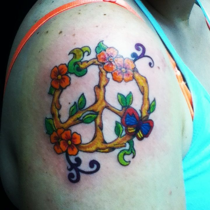 70 Cute Peace Tattoos: LOVE This Nature Peace Sign