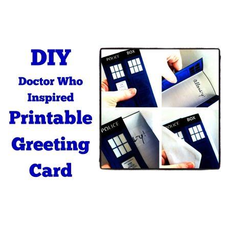 Doctor Who Christmas Cards.Doctor Who Inspired Printable Christmas Card Holiday Or Everyday