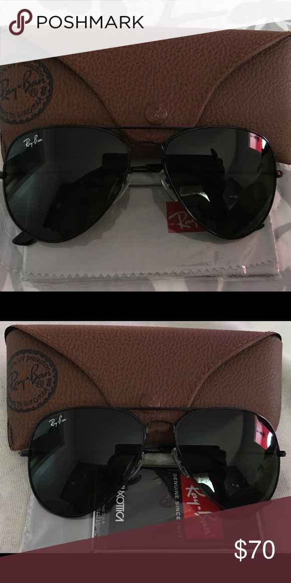 921bc8afd1 NEW AUTHENTIC RAY BAN AVIATOR RAYBAN 3026 RB3026 AVIATORS 112 69 BLACK  MIRRORED 62MM AVIATORS