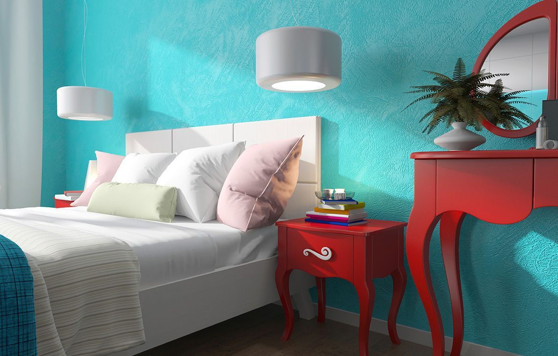 The Colour Of Calm Cool Blue Works Best For A Beautiful Bedroom Interior Design Paint Living Room Paint Inspiration Wall