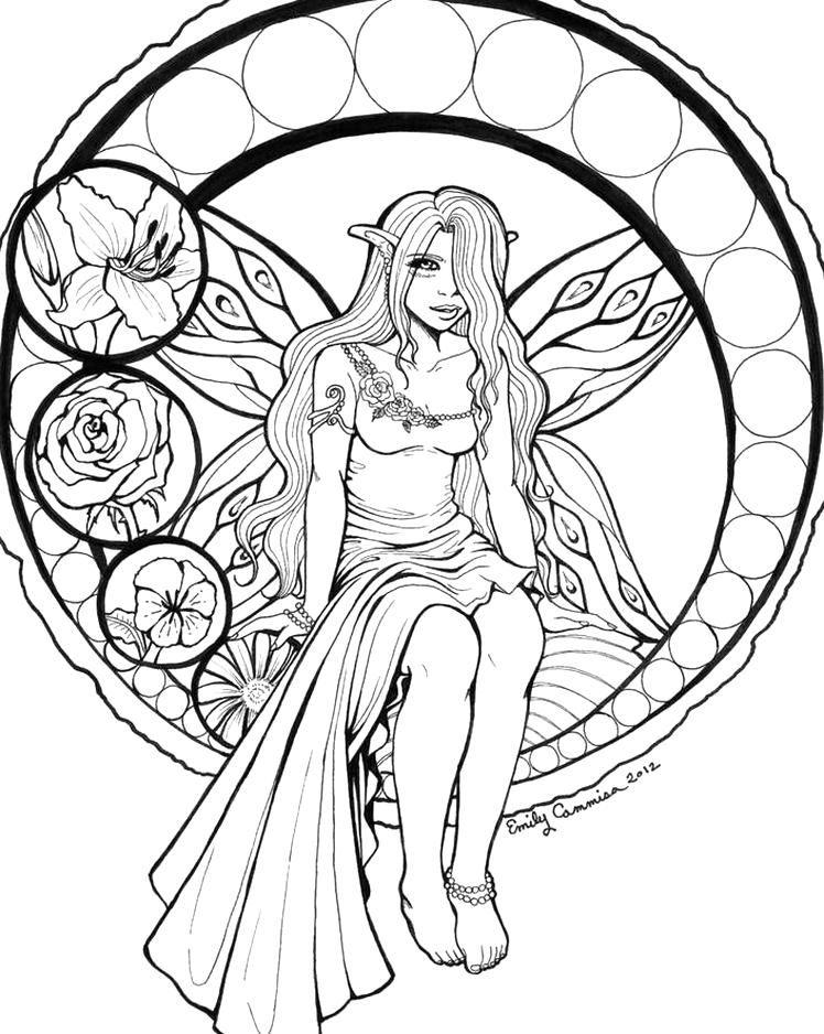 Stained Glass Fairy Lineart By Emilycammisa On Deviantart Fairy Coloring Pages Fairy Coloring Angel Coloring Pages