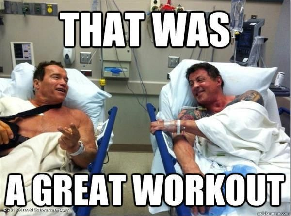 Arnie Sly That Was A Great Workout Funny Gym Meme Www