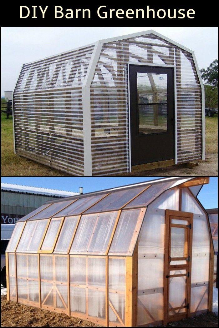 Diy barn greenhouse invernadero invernaderos y huerto for Invernadero en casa