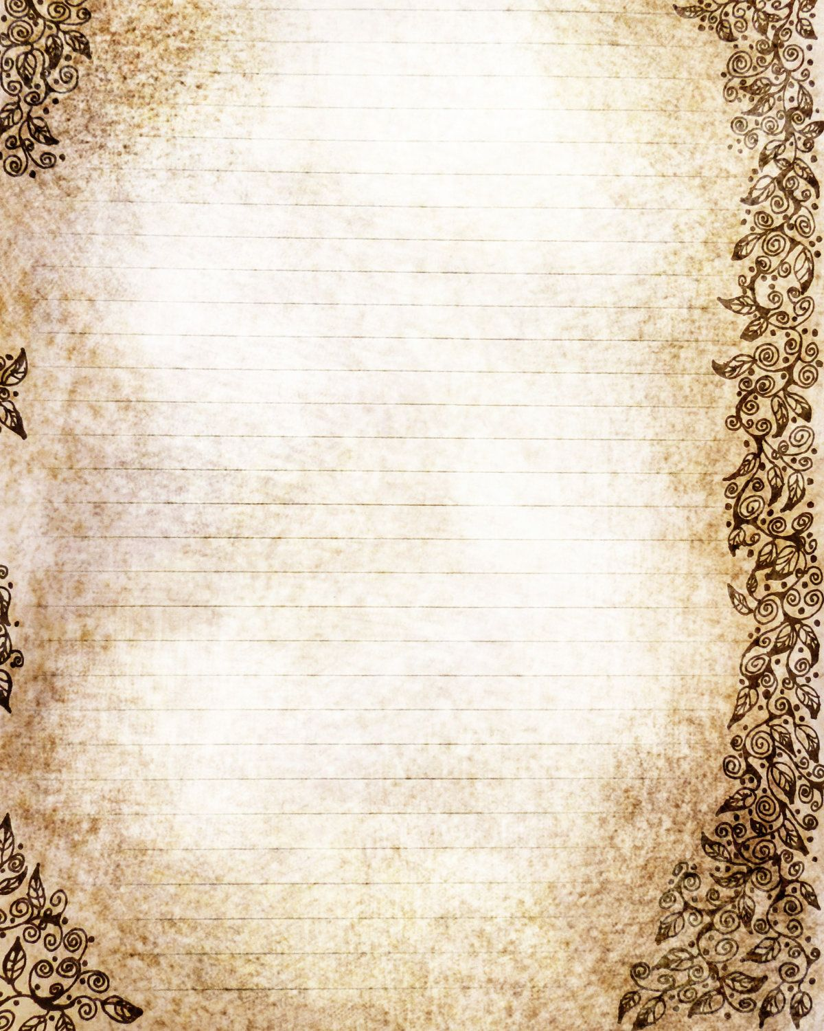 aged parchment writing paper