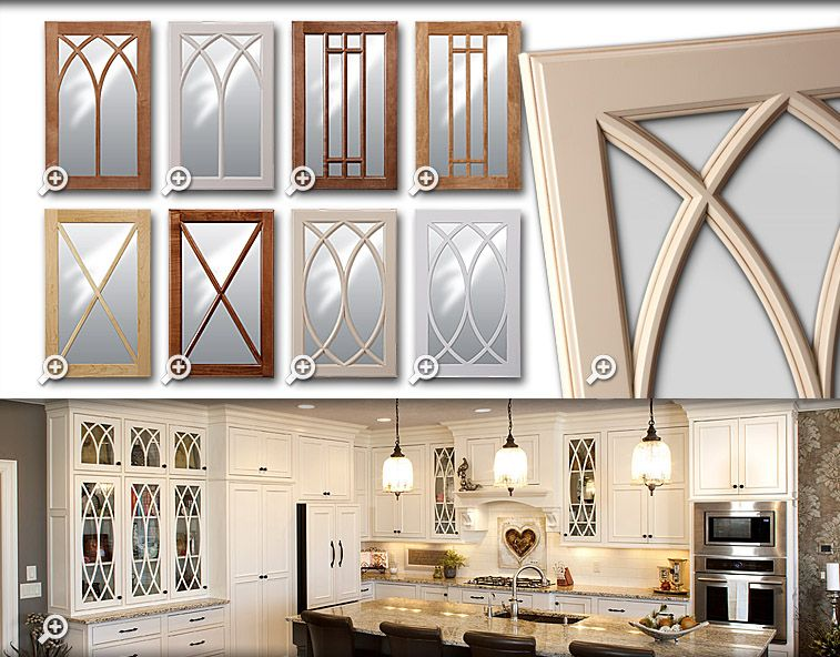missisauga kichen cabinet glass styles | Cabinets: Showplace Gothic Mullion glass doors | Glass ...