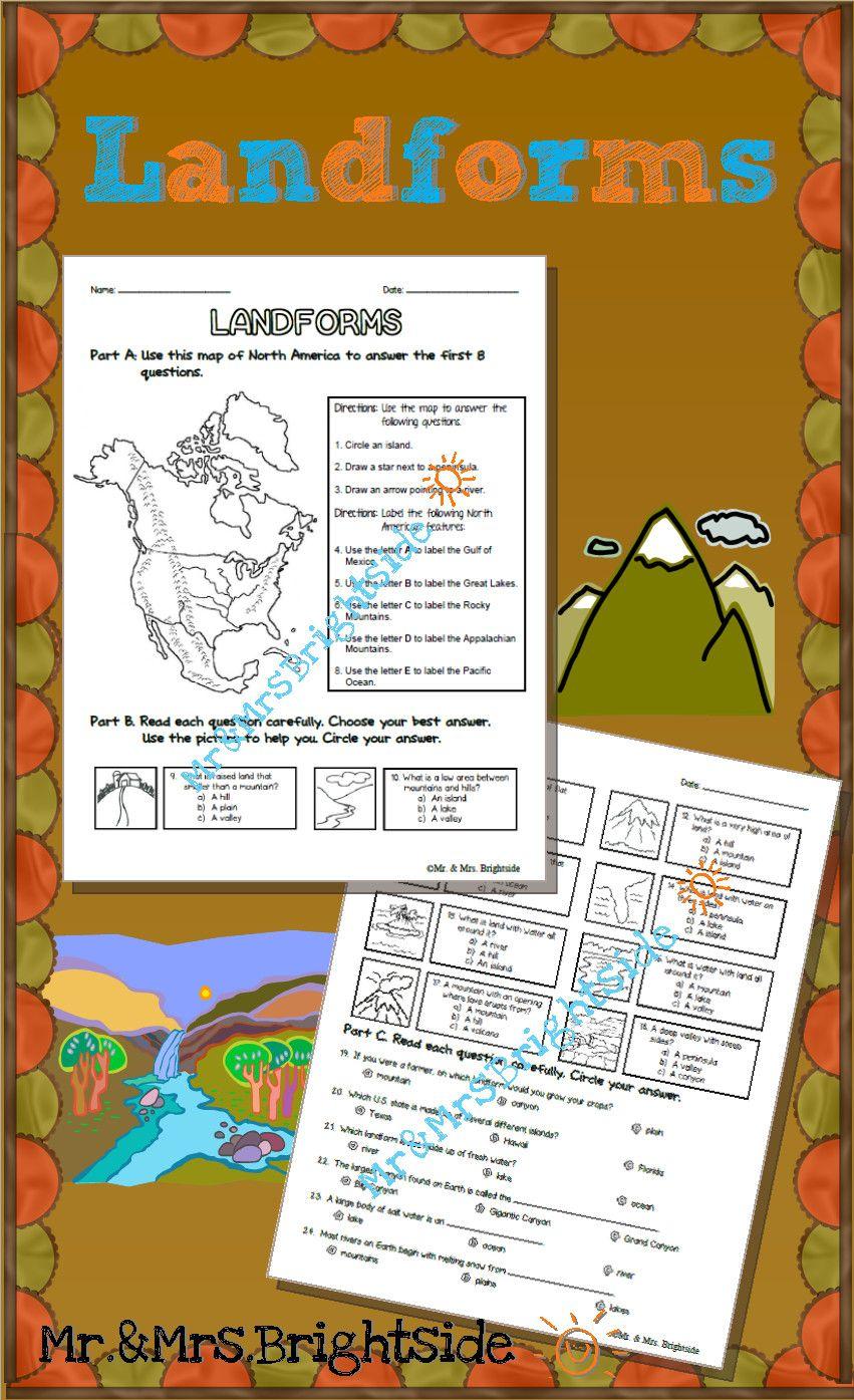 Landforms Worksheets For 5th Grade In 2020 3rd Grade Social Studies Social Studies Maps Homeschool Geography