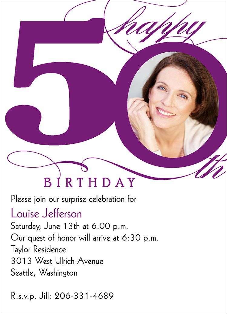 Nice Create Easy 50th Birthday Invitation Designs