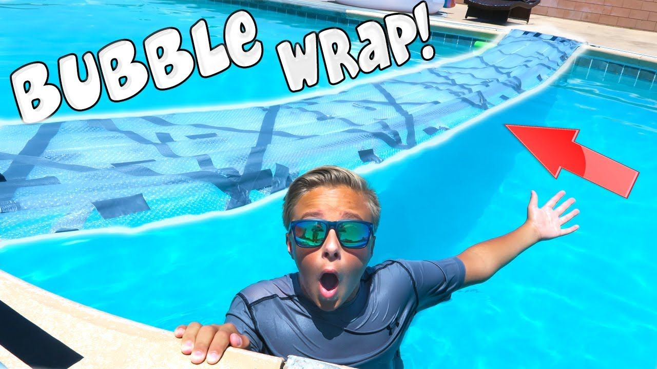 Duct Tape Zwembad Duct Tape Bubble Wrap Bridge On Backyard Swimming Pool Giant