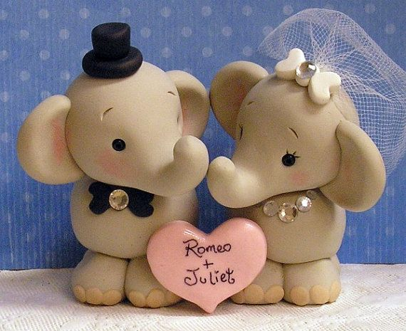 cute animal wedding cake toppers elephant cake topper wedding stuff 13267