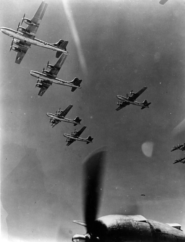 B-29 Superfortress in Flight Photograph 314 Bomb Wing