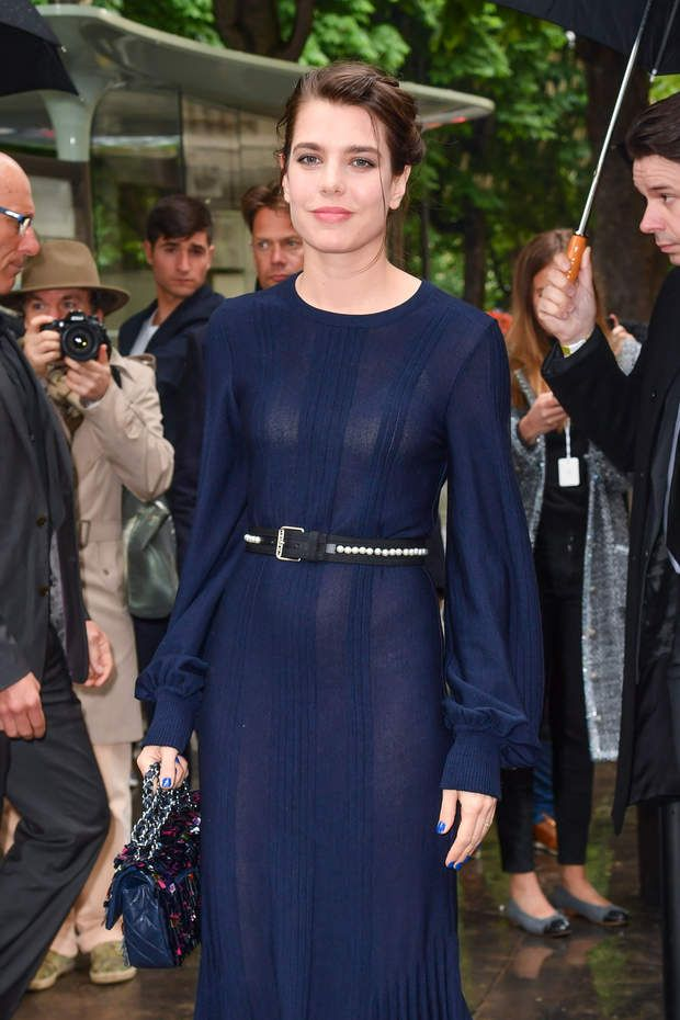 Charlotte Casiraghi arrives at the Chanel Cruise 2017 18 Collection at Le  Grand Palais on May 3, 2017 in Paris, France. 3659c7903c7d
