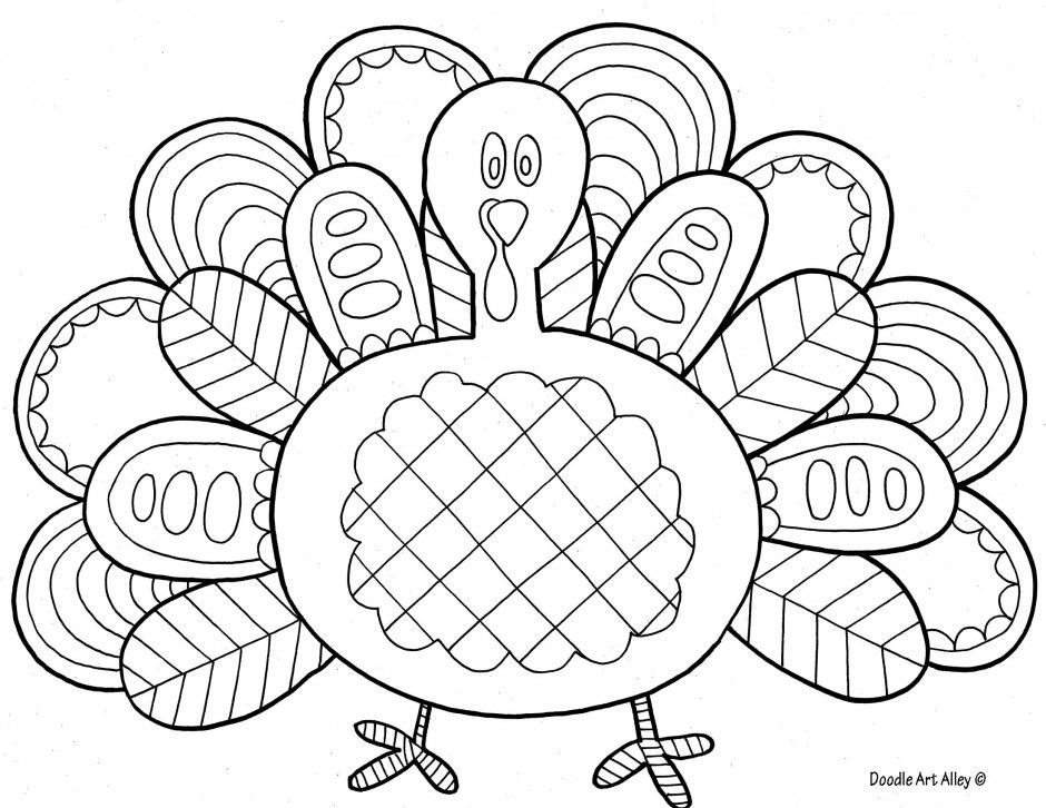 Free Printable Doodle Art Coloring Pages 288050 Free Printable Thanksgiving  Coloring Pages, Turkey Coloring Pages, Animal Coloring Pages