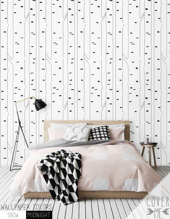 Birch Peel And Stick Removable Self Adhesive Vinyl Wallpaper Etsy Vinyl Wallpaper Removable Wallpaper Nursery Removable Wallpaper