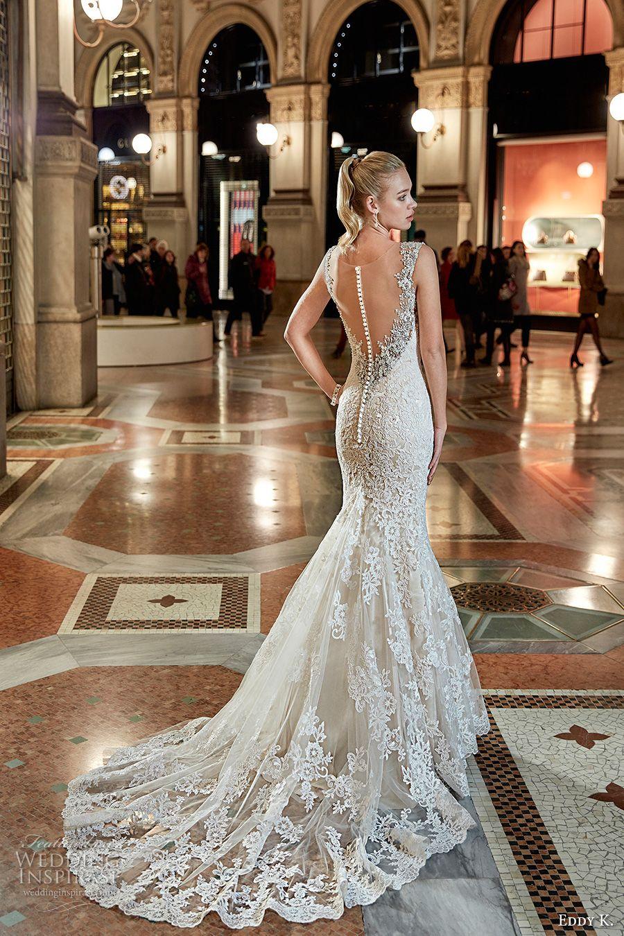 eddy k milano bridal 2017 sleeveless embellished strap sweetheart ...