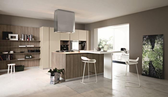 kücheneinrichtung ideen wandfarben ideen taupe farbe Wohnideen - küche farben ideen