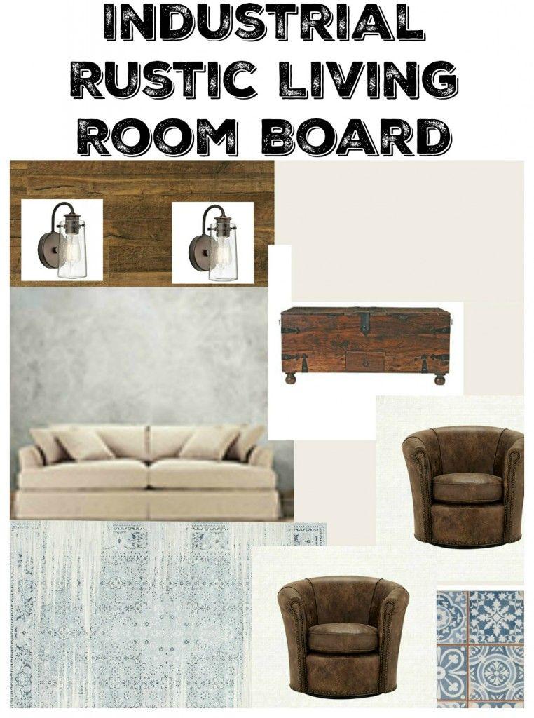 Industrial Rustic Living Room Board \