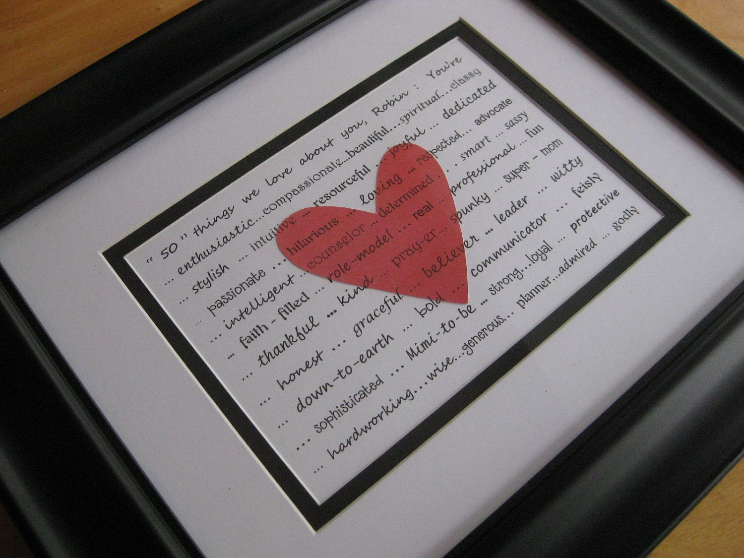 40th Wedding Anniversary Gifts For Friends: Personalized Friend Gift, 5 X 7 Print, With Your Words