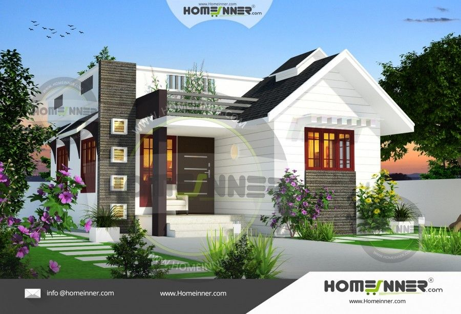 650 Sq Ft 2 Bedroom House Style In India Kerala House Design Simple House Design Minimalist House Design