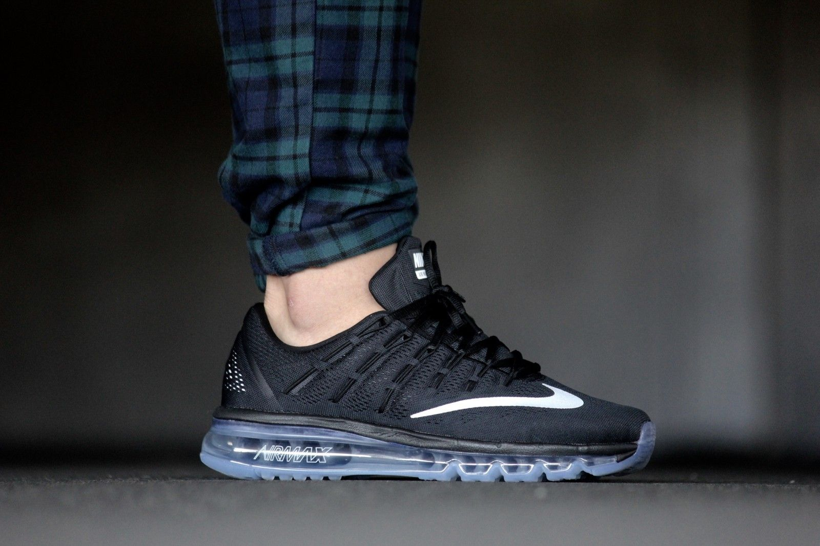 bbc54e62457 Nike Air Max 2016 Black  White-Dark Grey - 806771-001