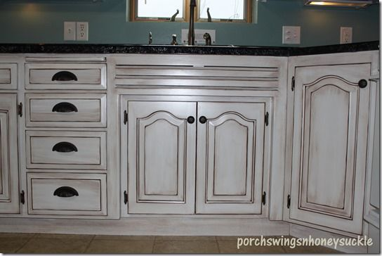 Porchswings N Honeysuckle Paint And Glaze Cabinet Tutorial