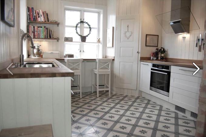 Fliser Til Grått Kjøkken: Maling av fliser kjokken inspirasjon gulv ...