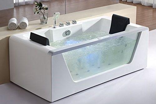 Charmant 6 Ft. Clear Whirlpool Bath Tub, As Shown