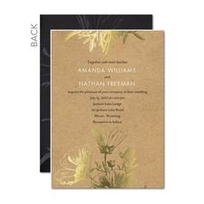 Delicate Imprint Wedding Cards