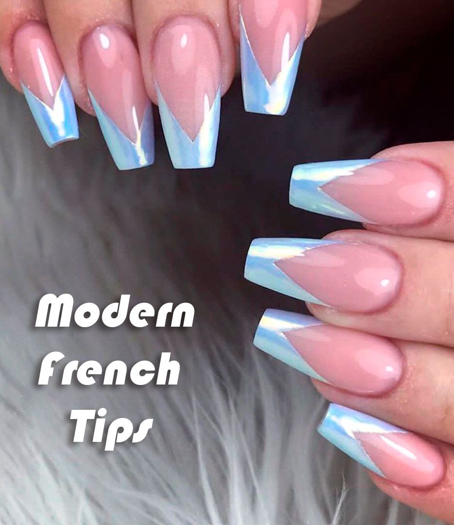 9 Stunning Modern French Manicure Ideas Stylish Belles French Tip Nail Designs French Tip Nail Art Nails Design With Rhinestones